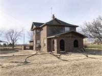 3/4   Lg. Home, Hay/Machinery Shed & Acreage   Marshall, OK