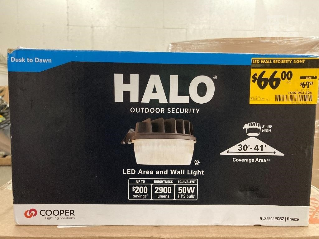 Gebraucht HALO OUTDOOR SECURITY LED AREA AND WALL LIGHT Andere ...