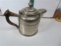 Vintage Rome Metalware Tea Pot with Deer Antler