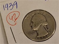1939 Twenty Five Cent