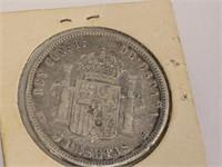 1884 Spain Five Pesetas