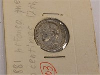 1881 Spain Fifty Centavos