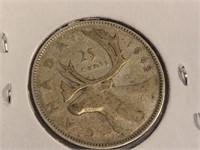 1942 Canada Twenty Five Cent