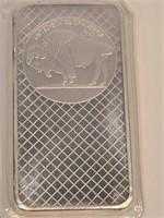 """10 Troy Ounce Silver Bar 3 5/8"""" x 1 7/8"""""""