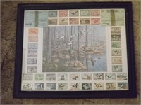 (40) MIGRATORY BIRD STAMPS, (2) HUNTING/TRAP LIC
