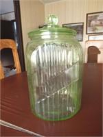 GREEN VASELINE JAR W/LID