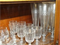 STEMWARE, TUMBLERS, SOME ETCHED