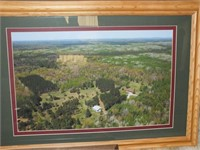 """(3) ARIEL PHOTOS FRAMED/MATTED OF """"STEINKE ROAD"""""""