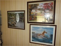 (3) FRAMED/MATTED PUZZLES