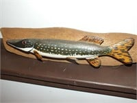 HAND CARVED/PAINTED WOODEN FISH