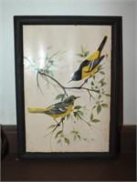 BIRD PICS & OIL LAMP