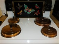BUTTERFLY THEMED TRAY, MCM BURNER COVERS