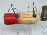 (2) SHAKESPEARE SWIMMING MOUSE LURES