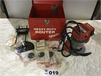 MILWAUKEE HEAVY DUTY ROUTER & ACCESSORIES. WORKS