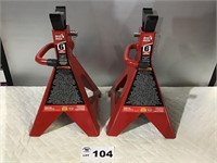TÖRIN 6 TON BIG RED JACK STANDS. 2. New