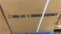 Qty 1-Edsal 5 Drawer Assembly model MDA-101