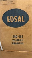 Qty 1-Edsal 12 Shelf Drawers appears to be in