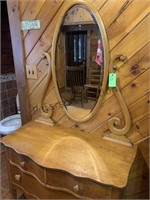 Serpentine Front Maple Vanity