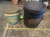 Two Tin Barrels