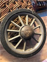 Vintage wicker trappers basket