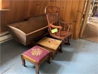 Primitive child's furniture lot
