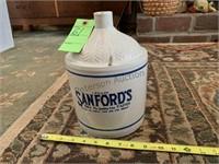 Sandford's Inks, Pastes 1 Gallon Jug Crock