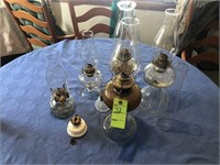 Oil Lamps, Parts, Chimneys