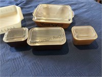 Pyrex lot 4 nesting bowls covered dishes