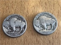 2 Pc. Buffalo Nickels Unknown Dates