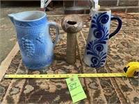 Ceramicware Pitchers and Spittoon