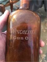 Winchester gun oil bottle and tin