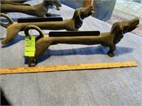 4 cast iron boot scrapers