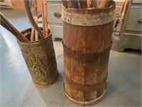 Walking Sticks and 2 Barrels