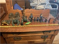 Cast Iron Figurines and Frogs