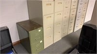6-4drawer filing cabinets and 1-2 drawer cabinet