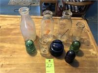 Milk bottles & insulators Jamestown ny