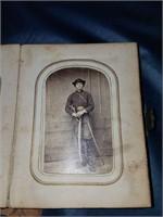 Antique Photo Album w Armed Civil War Soldier