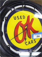 OK Used Car clock