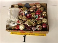 Box of Christmas items includes angel