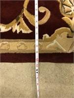 Scallop cut rug 8'