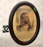 """Oval picture of Jesus 23"""""""