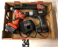 Battery operated Drills (2) Black N Decker &