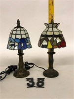 "2 Small Boudoir lamps 12"""