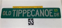 Old Tippecanoe Dr Street sign