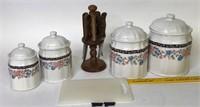 Knife set & Ceramic canister set
