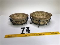 Pie plates & 2 bowls