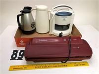 Food Saver & coffee pots