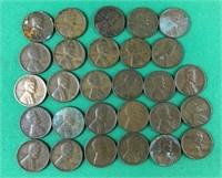 27 Wheat Pennies