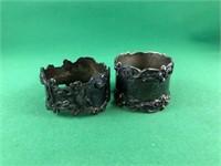 2 Sterling napkin rings