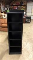 Black 5-Shelf Cabinet